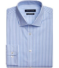 tommy hilfiger blue stripe slim fit dress shirt