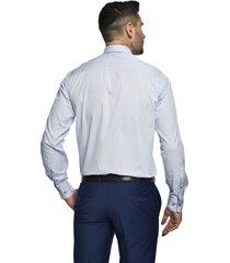 koszula winberg 2558 długi rękaw custom fit niebieski