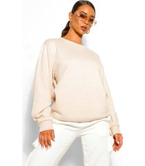 basic oversized sweater, stone