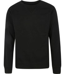 maison margiela rear logo plain ribbed sweatshirt