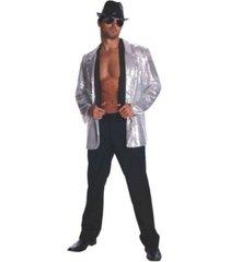 buyseasons silver sequin adult jacket