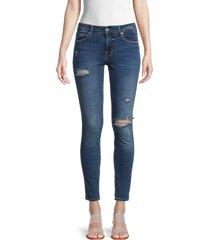 true religion women's jennie distressed skinny ankle jeans - medium wash - size 31 (10)