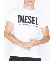 diesel t diego logo t shirt t-shirts & linnen vit