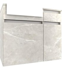 gabinete p/ banheiro c/ cuba cora 80cm mb bosi cinza - cinza - dafiti
