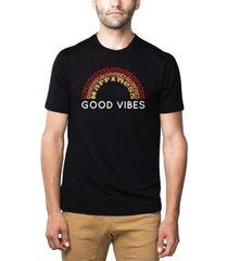 men's premium blend word art good vibes t-shirt