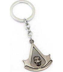 grey 10/lot assassins creed charm key chain key ring chaveiro pendant souvenir