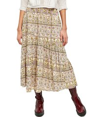 women's free people all about the tiers a-line skirt, size large - ivory