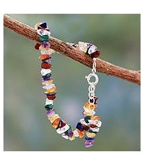 multi gemstone chakra bracelet, 'peace ritual' (india)