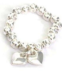 anillo de mujer plateado fedina ciondoli cuori love vestopazzo