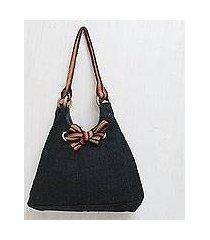 wool shoulder bag, 'night lights' (peru)