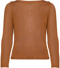 linen-blend boat-neck sweater gebreide trui bruin banana republic