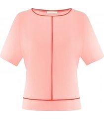airfield - bls 115 blouse zalmroze-oranje