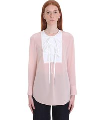 tory burch blouse in rose-pink silk