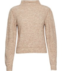 alli knit t-neck gebreide trui beige second female