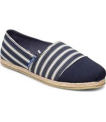 jfwespadrille stripe navy blazer espadriller skor blå jack & j s