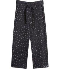 pantalon culotte mujer color negro, talla 10