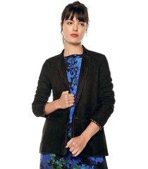 blazer negro-multicolor desigual