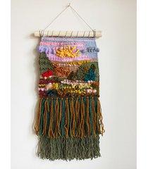 makatka, dekoracja ścienna z sarenką