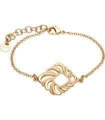 bracciale in ottone dorato con ciondolo forma rombo e glitter per donna