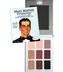 meet matt(e) trimony the balm - paleta de sombras 1 un