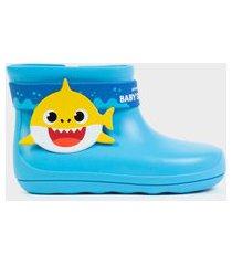 bota galocha infantil baby shark azul azul
