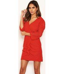 ax paris women's chiffon frill front dress