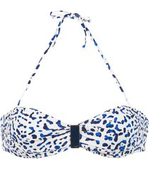 track & field maya bikini top - blue