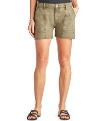 women's sam edelman the cargo cotton blend utility shorts, size 32 - green