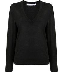 iro layered jumper top - black