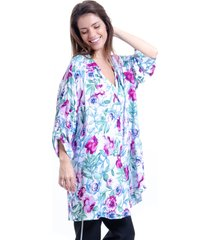 chemise 101 resort wear vestido viscose estampa floral