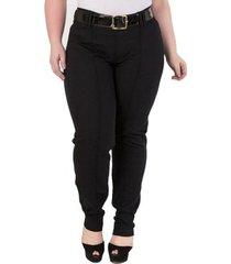 calça confidencial extra plus size slim fit feminina
