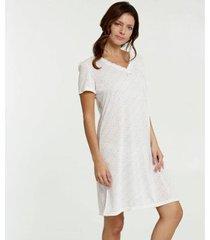 camisola marisa estampa bolinhas manga curta feminina