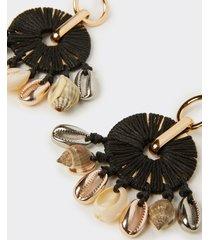 motivi orecchini pendenti con conchiglie donna nero