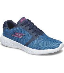 womens go run 600 shoes sport shoes running shoes blå skechers