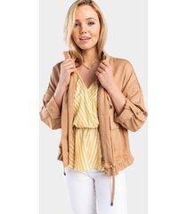 jaqaline cargo jacket - natural