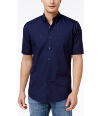 club room men's dot-print stretch cotton shirt