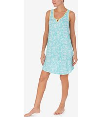 cuddl duds lace-trim printed chemise nightgown