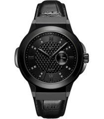 jbw men's saxon diamond (1/6 ct. t.w.) watch in gunmetal-plated stainless steel watch 48mm