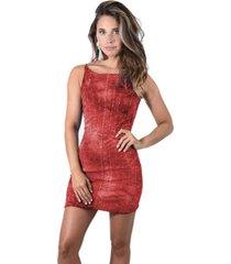 vestido corto edam rojo lentejuelas maria paskaro