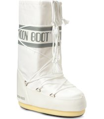 moon boot nylon shoes boots ankle boots ankle boot - flat vit moon boot