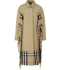 trench coat with cashmere scarf