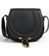 chloe small marcie crossbody bag - black