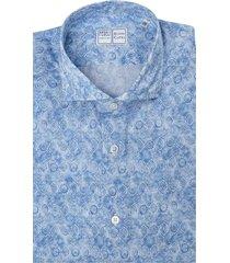 light blue sean tiles printed panamino man shirt
