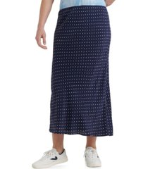 lucky brand willa polka dot midi skirt