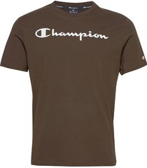 crewneck t-shirt t-shirts short-sleeved brun champion