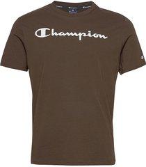 crewneck t-shirt t-shirts short-sleeved brun champion