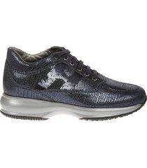 hogan interactive sequin-coated sneakers