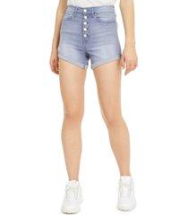 celebrity pink juniors' curvy-fit cuffed denim shorts