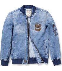 chaqueta bomber denim  azul ferouch