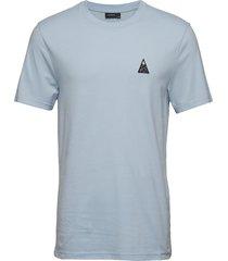 bridge tee-s jersey t-shirts short-sleeved blå j. lindeberg